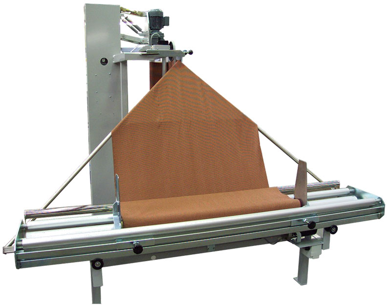 Rear view of folding machine showing tracking cradle