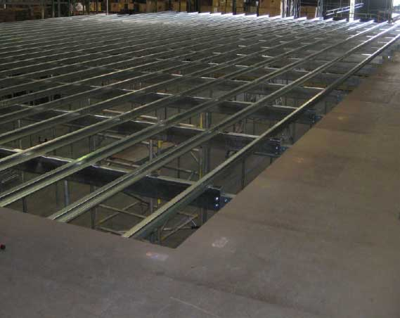 Our modular designed floors use high tensile steel. Meaning your floor will be strong and erected promptly.